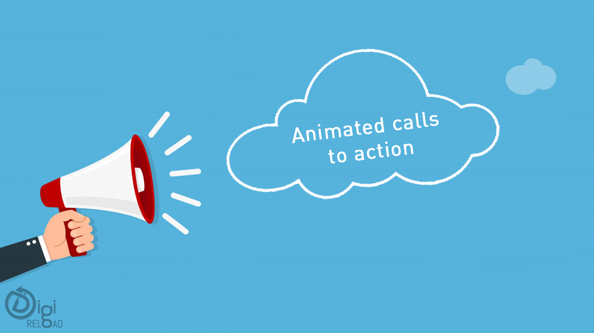 Animated calls to action